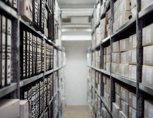 une entreprise de stockage d'archives
